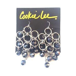 Cookie Lee Faceted glass earrings